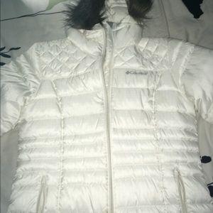 Women's Snow White Columbia jacket